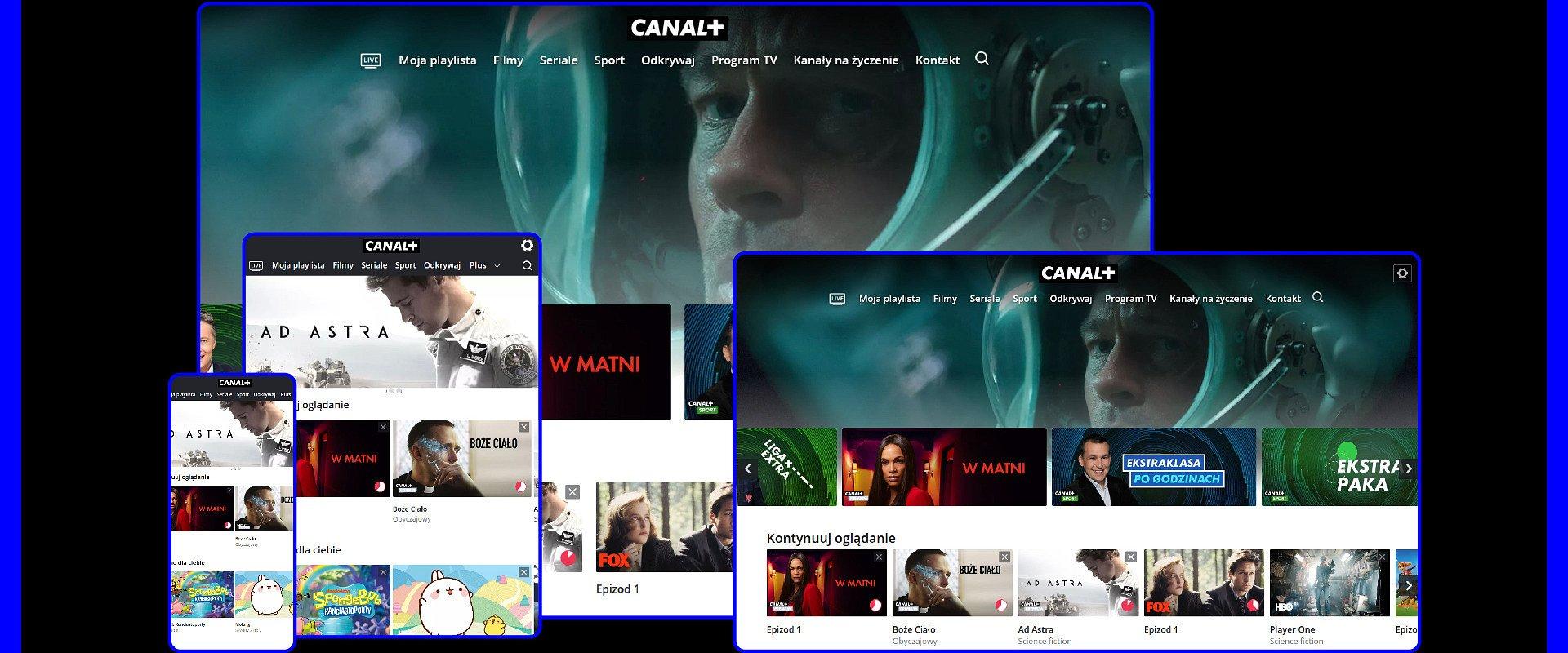 CANAL + łączy telewizję z VOD. Nowa usługa bez umowy, kabla i anteny.