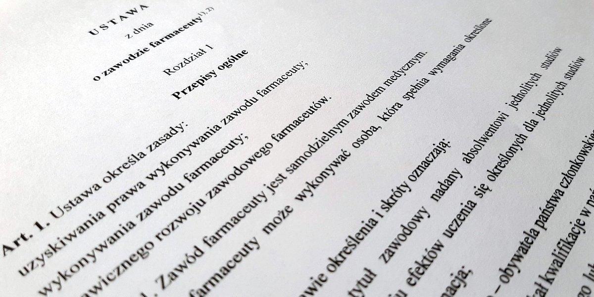 Komisja Zdrowia zajmie się dziś ustawą o zawodzie farmaceuty