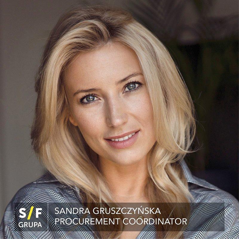 Sandra Gruszczyńska jako Procurement Coordinator w Grupie S/F