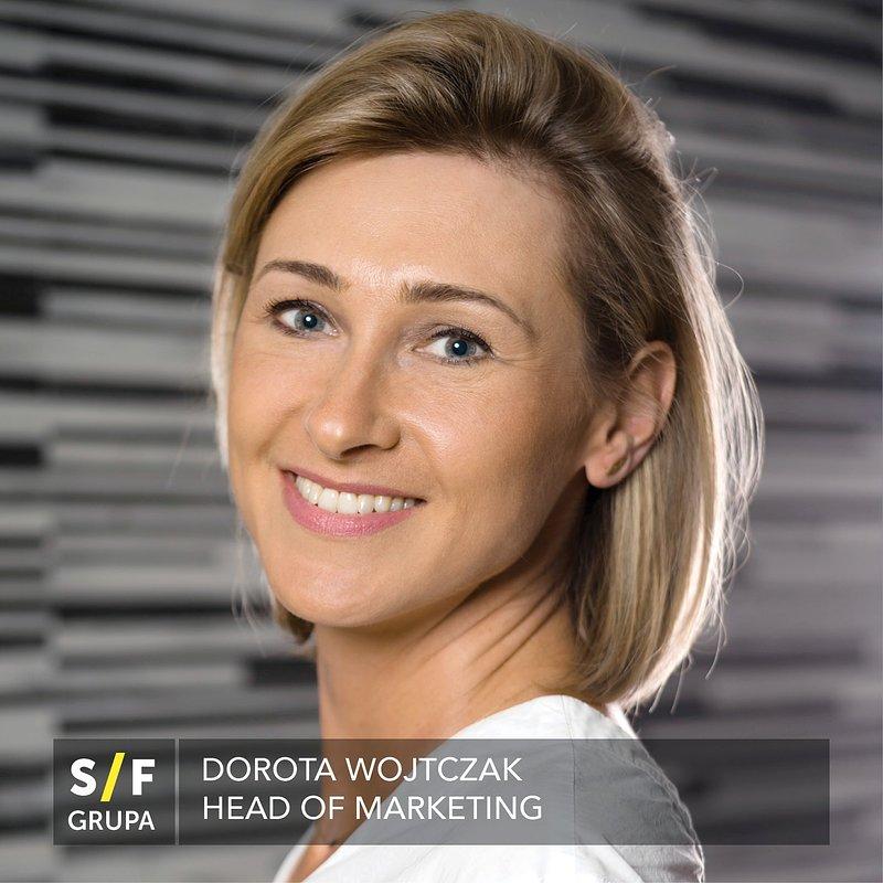 Dorota Wojtczak jako Head of Marketing w Grupie S/F