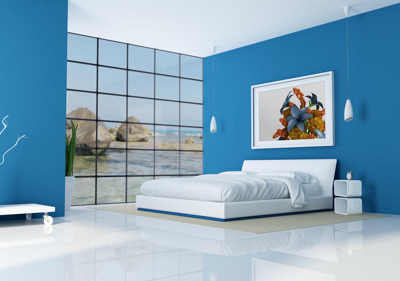 Oświetlenie sypialni z użyciem lamp LED