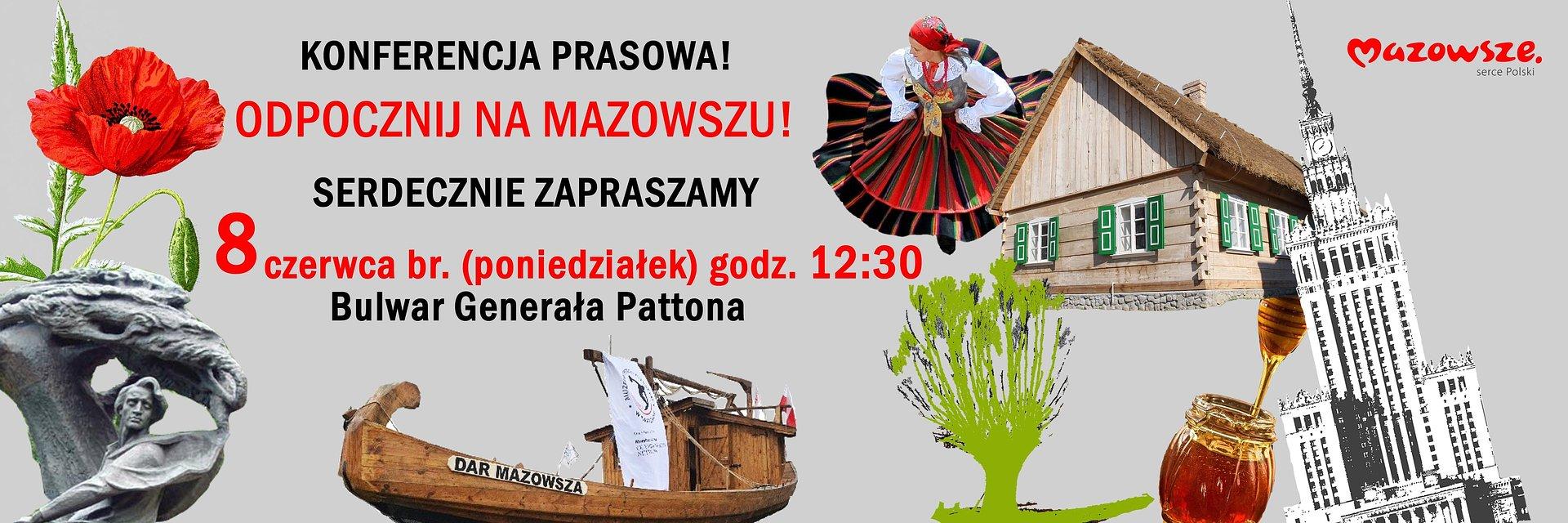 Odpocznij na Mazowszu - konferencja prasowa
