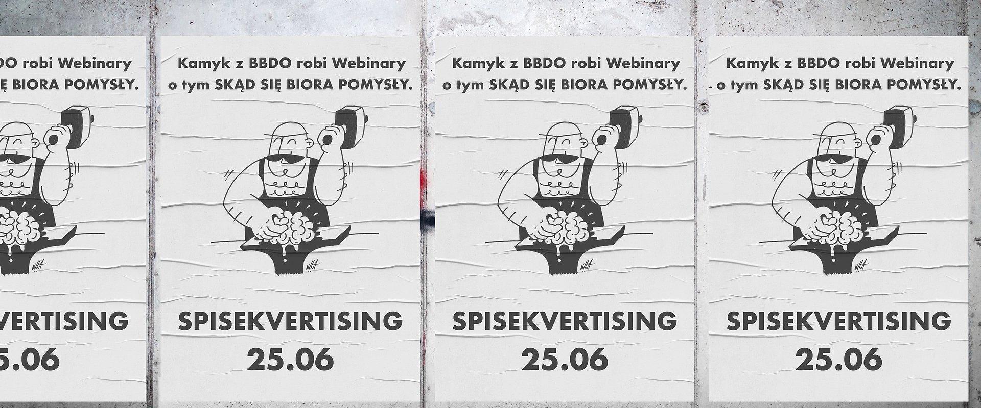 """""""Spisekvertising"""" czyli webinar nr 2 z cyklu """"Skąd się biorą pomysły"""". BBDO i Redestowicz o kreatywności."""